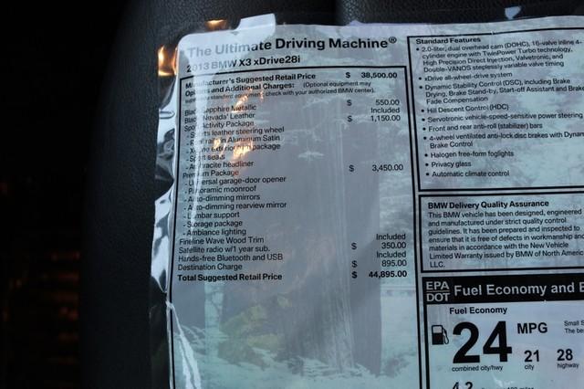 2013 BMW X3 xDrive28i Mooresville, North Carolina 29