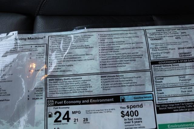 2013 BMW X3 xDrive28i Mooresville, North Carolina 30