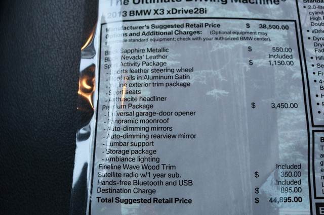 2013 BMW X3 xDrive28i Mooresville, North Carolina 35