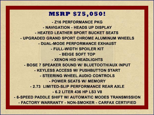 2013 Chevrolet Corvette Grand Sport 3LT W/ BEIGE TOP Mooresville , NC 1