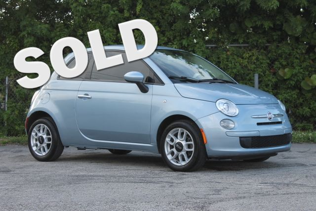 2013 FIAT 500 Pop  WARRANTY CARFAX CERTIFIED GAS SAVER FLORIDA VEHICLE TRADES WELCOME