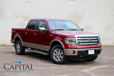 2013 Ford F-150 Lariat SuperCrew 4x4 w/Navigation, Heated & Cooled Seats, Moonroof, Premium Audio & LOW Miles in Eau Claire
