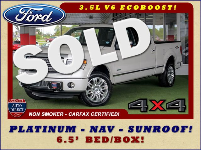 2013 Ford F-150 Platinum SuperCrew 6.5' Bed 4x4 - NAV - SUNROOF! Mooresville , NC 0
