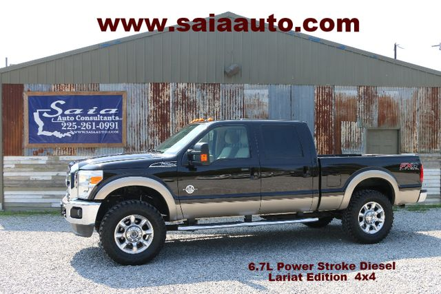 2013 Ford F250 Crew Cab 6.7 Diesel Lariat Lifted LOADED WITH ALL THE TOYS NEW 37S ON 20S CLEAN CARFAX SERVICED DETAILED READY TO GEAUX | Baton Rouge , Louisiana | Saia Auto Consultants LLC in Baton Rouge  Louisiana