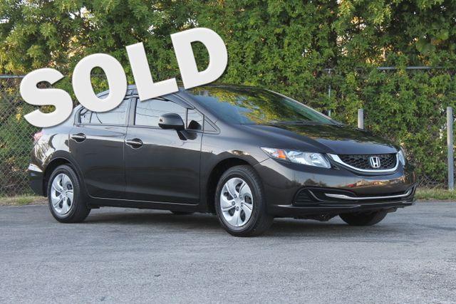 2013 Honda Civic LX  WARRANTY CARFAX CERTIFIED 7 SERVICE RECORDS GAS SAVER FLORIDA VEHICLE