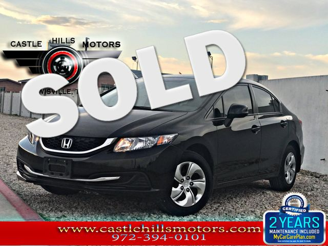 2013 Honda Civic LX | Lewisville, Texas | Castle Hills Motors in Lewisville Texas