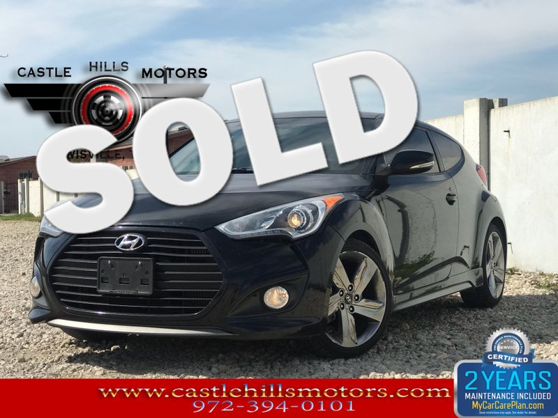 2013 Hyundai Veloster Turbo w/Blue Int   Lewisville, Texas   Castle Hills Motors in Lewisville Texas