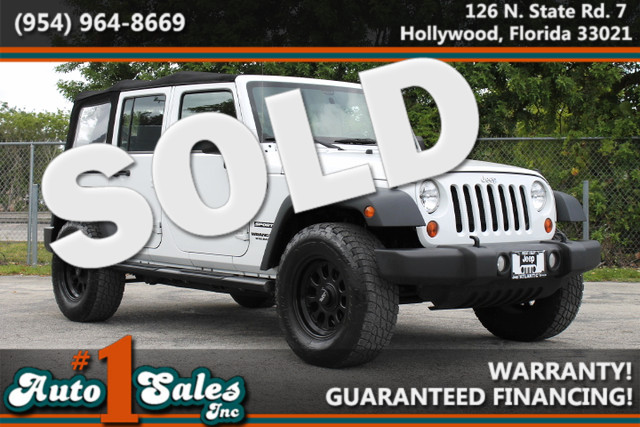 2013 Jeep Wrangler Unlimited Sport  FACTORY WARRANTY CARFAX CERTIFIED AUTOCHECK CERTIFIED 1