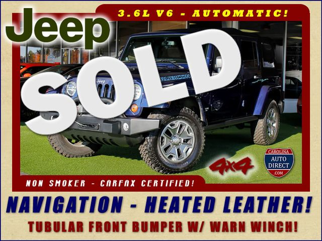 2013 Jeep Wrangler Unlimited Rubicon 4X4 - NAVIGATION - HEATED LEATHER - WINCH! Mooresville , NC 0