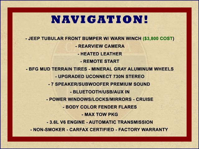 2013 Jeep Wrangler Unlimited Rubicon 4X4 - NAVIGATION - HEATED LEATHER - WINCH! Mooresville , NC 2