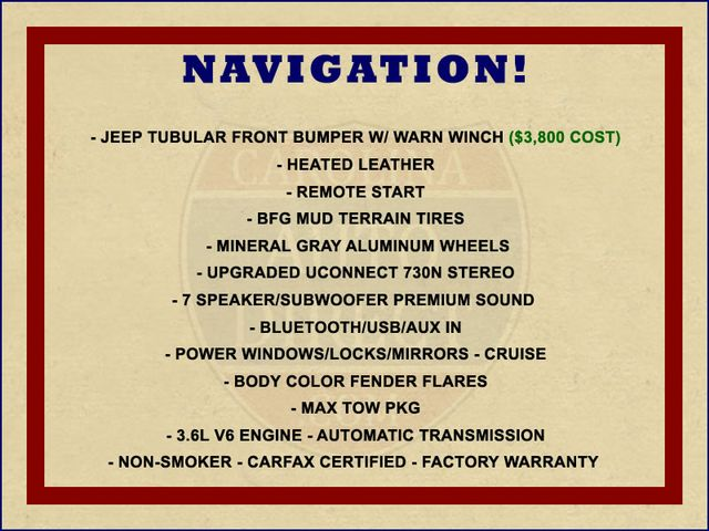 2013 Jeep Wrangler Unlimited Rubicon 4X4 - NAVIGATION - HEATED LEATHER - WINCH! Mooresville , NC 1