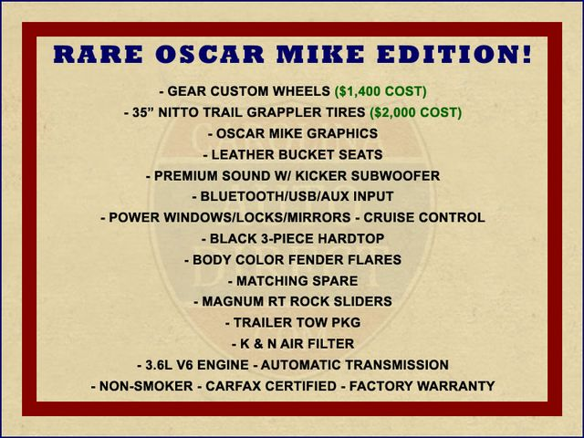 2013 Jeep Wrangler Unlimited Freedom Edition 4X4 - RARE OSCAR MIKE! Mooresville , NC 1