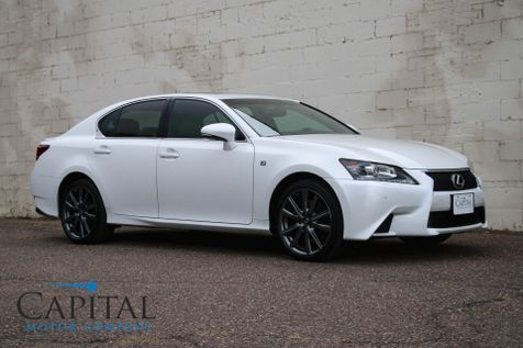 2013 Lexus GS 350 AWD F-SPORT Package with Heated/Cooled Seats, Navigation Pkg and 19