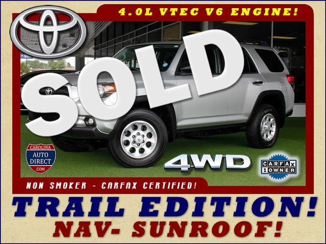 2013 Toyota 4Runner Trail 4WD - NAVIGATION - SUNROOF! Mooresville , NC 0