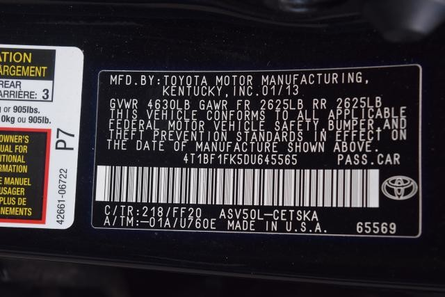 2013 Toyota Camry 4dr Sdn I4 Auto SE Richmond Hill, New York 16