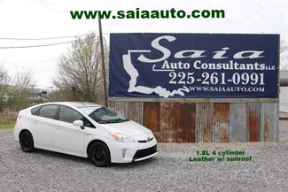 2013 Toyota Prius 5 Navi Roof Advanced Tech Pkg Super White Over Grey Lthr One Owner Clean Car Fax | Baton Rouge , Louisiana | Saia Auto Consultants LLC-[ 2 ]