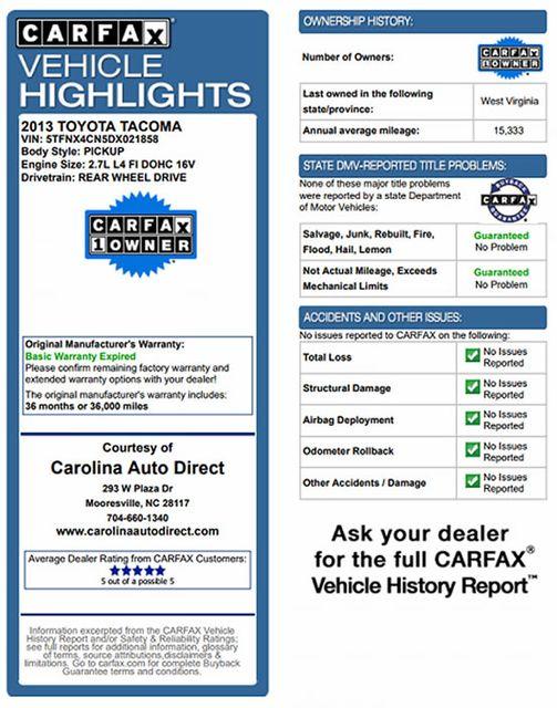 2013 Toyota Tacoma REG CAB RWD - BRAND NEW TIRES! Mooresville , NC 3