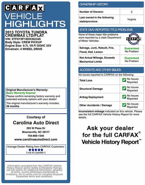2013 Toyota Tundra LTD CrewMax 4x4 - NAVIGATION - SUNROOF! Mooresville , NC 3