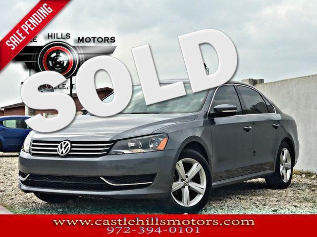 2013 Volkswagen Passat **INCLUDES 2 YRS FREE MAINTENANCE** SE w/Sunroof - CARFAX 1-Owner! | Lewisville, Texas | Castle Hills Motors in Lewisville Texas