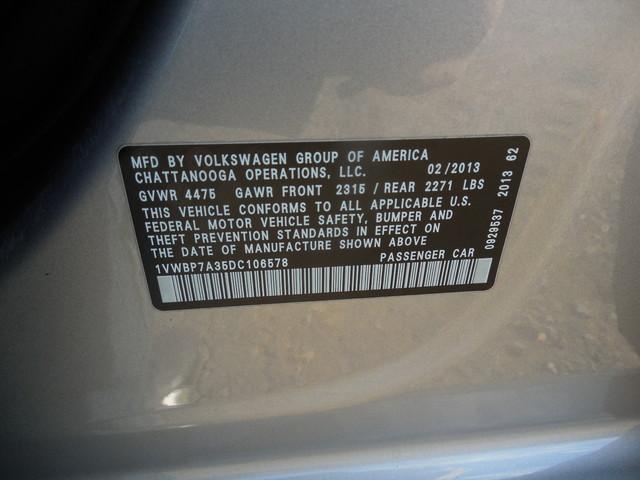 2013 Volkswagen Passat SE w/Sunroof Leesburg, Virginia 31