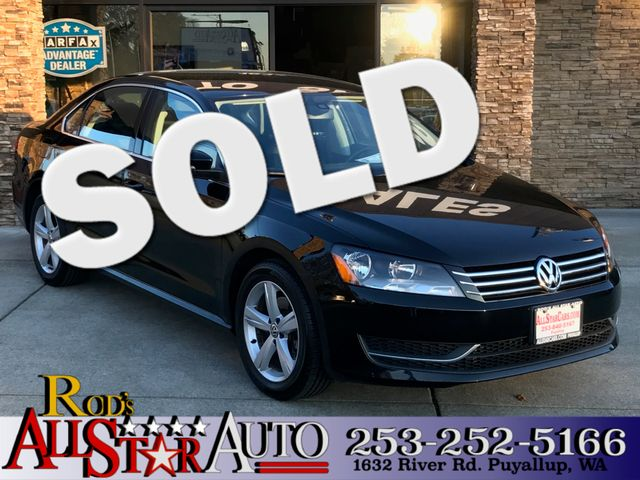 2013 Volkswagen Passat SE This vehicle is a CarFax certified one-owner used car Pre-owned vehicle