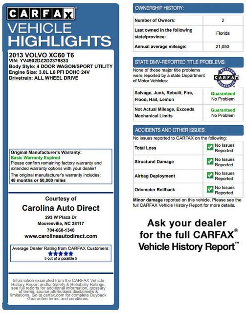 2013 Volvo XC60 T6 Premier Plus AWD - CLIMATE PKG - BLIS! Mooresville , NC 3