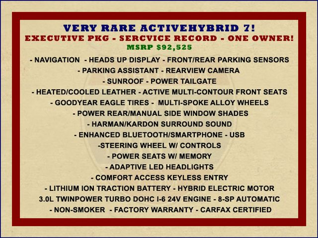 2014 BMW ActiveHybrid 7 L RWD - EXECUTIVE PKG - VERY RARE! Mooresville , NC 1