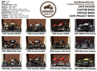2015 ....Burgundee Bikes Florida's 1969-1989 Cafe Racer Motorcycle Center Mendham, New Jersey