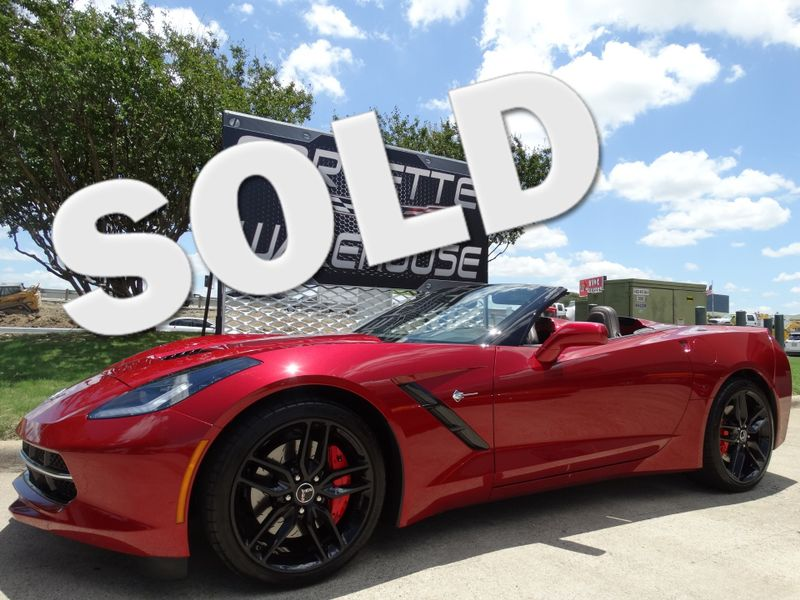 2014 Chevrolet Corvette Stingray Conv 3LT, Z51, FE4, NPP, NAV, Black Alloys 9k! | Dallas, Texas | Corvette Warehouse