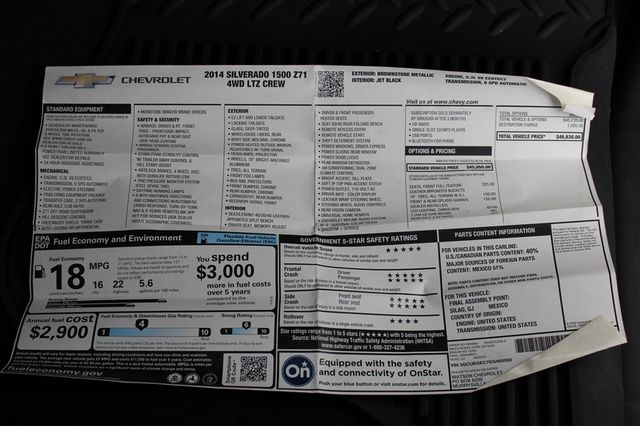 2014 Chevrolet Silverado 1500 LTZ Crew Cab 4X4 Z71 - HEATED LEATHER! Mooresville , NC 2