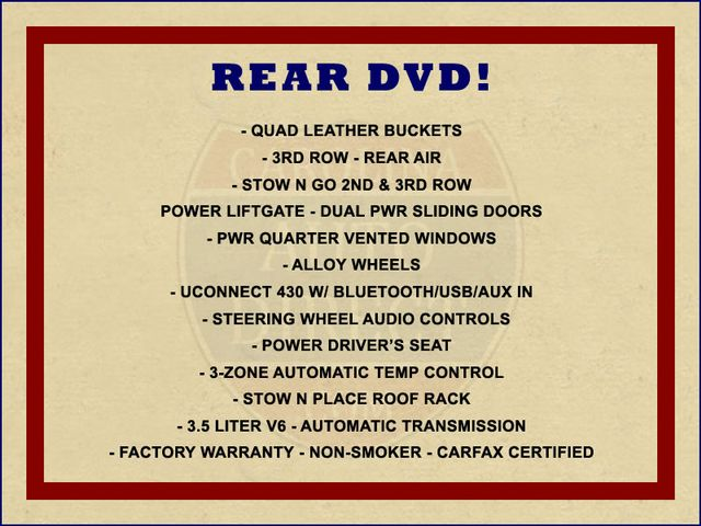 2014 Chrysler Town & Country Touring FWD - REAR DVD Mooresville , NC 1