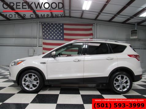 2014 Ford Escape Titanium FWD White Pano Sunroof Nav Leather Loaded in Searcy, AR