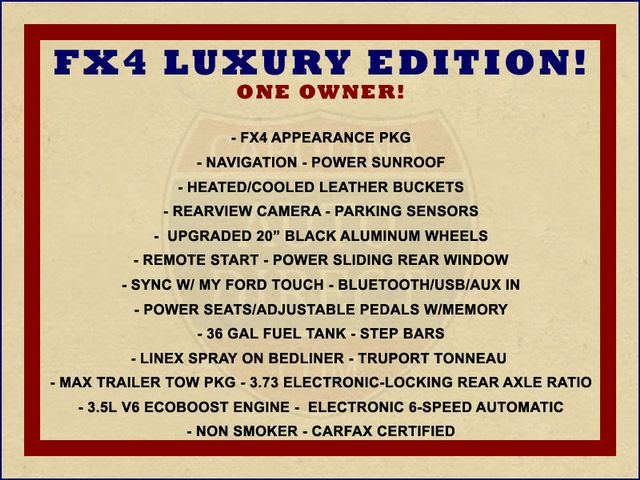 2014 Ford F-150 FX4 Luxury Edition SuperCrew 4X4 - NAV - SUNROOF! Mooresville , NC 1