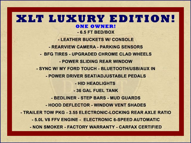 2014 Ford F-150 XLT Luxury Edition SuperCrew 4X4 - LEATHER - HIDS! Mooresville , NC 1