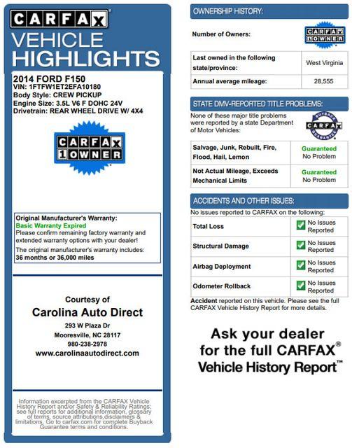 2014 Ford F-150 Platinum SuperCrew 4x4 - NAV - SUNROOF! Mooresville , NC 3