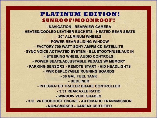 2014 Ford F-150 Platinum SuperCrew 4x4 - NAV - SUNROOF! Mooresville , NC 1