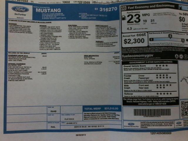 2014 Ford Mustang V6 Premium San Antonio, Texas 34