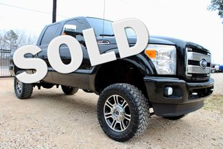 2014 Ford Super Duty F-250 Platinum Crew Cab 4X4 6.7L Powerstroke Diesel Auto LIFTED LOADED Sealy, Texas