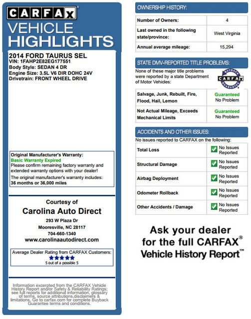 2014 Ford Taurus SEL FWD - LUXURY EDITION - HEATED LEATHER! Mooresville , NC 3