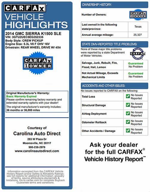2014 GMC Sierra 1500 SLE Crew Cab 4x4 - TUSCANY BADLANDER EDITION! Mooresville , NC 3