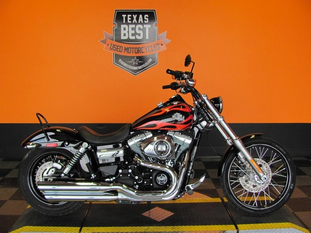 2014 Used Black with Flames Harley Davidson Dyna Wide Glide FXDWG ABS