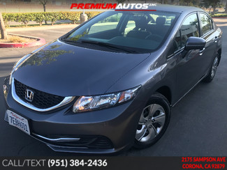 2014 Honda Civic LX - LOW MILES - REAR CAM - WARRANTY | Corona, CA | Premium Autos Inc. in Corona CA