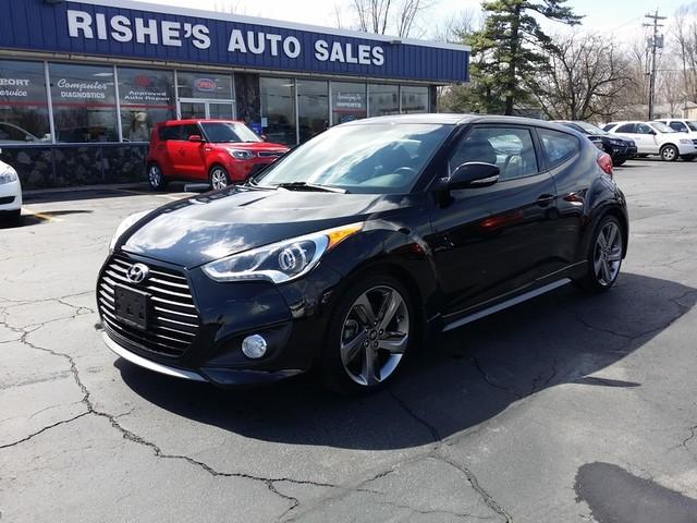 2014 Hyundai Veloster wNav Sunroof,  Turbo Black 5Spd | Ogdensburg, New York | Rishe's Auto Sales in Ogdensburg New York
