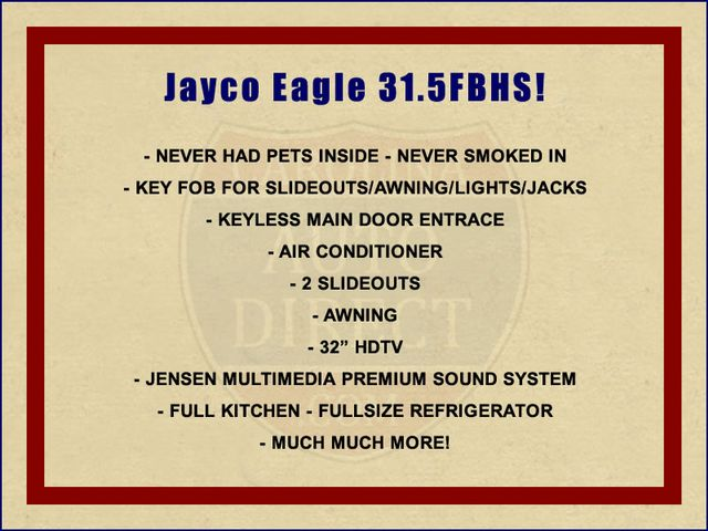 2014 Jayco Eagle 31.5FBHS Mooresville , NC 1
