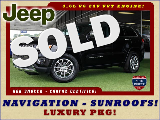 2014 Jeep Grand Cherokee Limited LUXURY RWD - NAV - SUNROOFS - NEW TIRES! Mooresville , NC 0