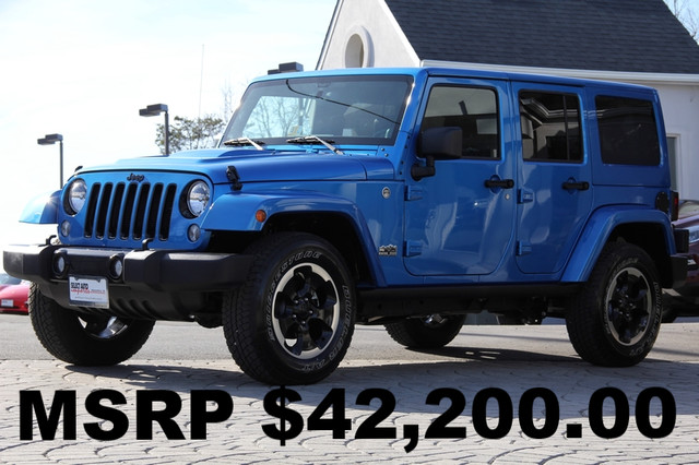 2014 JEEP Wrangler 4x4 Sahara 4dr SUV AMFM CD Player Anti-Theft Convertible 4-Wheel Drive AC