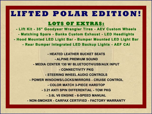 2014 Jeep Wrangler Unlimited Polar Edition 4x4 - LIFTED - LOTS OF EXTRA$! Mooresville , NC 1