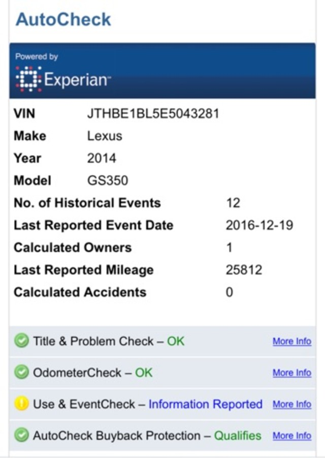 2014 Lexus GS 350 F SPORT Jacksonville , FL 4