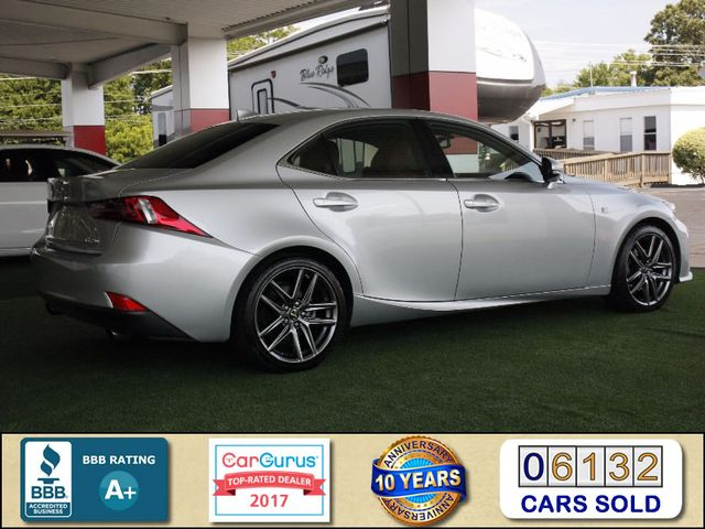 2014 Lexus IS 250 F-SPORT RWD - BLIND SPOT - RED LEATHER! Mooresville , NC 2