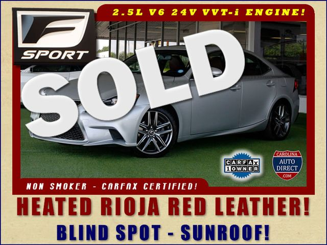 2014 Lexus IS 250 F-SPORT RWD - BLIND SPOT - RED LEATHER! Mooresville , NC 0